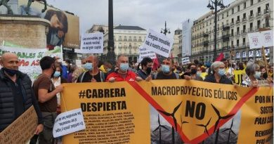 400 kilómetros para defender el paisaje y «el derecho a la belleza»: desde Cabrera a la Puerta del Sol